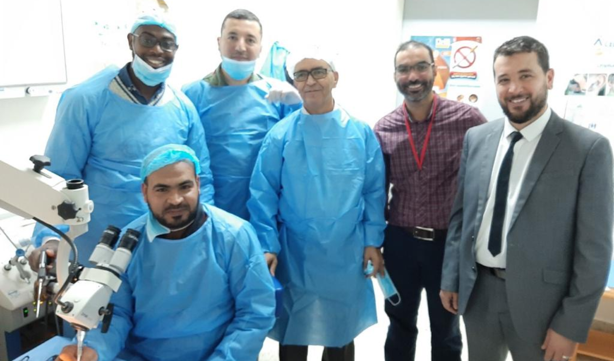 First temporal dissection and cochlear implantation course
